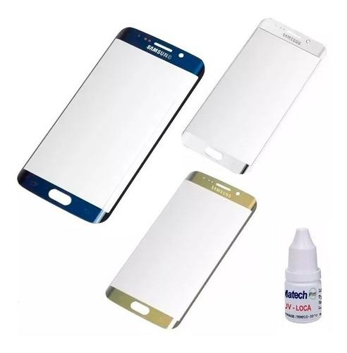 vidrio glass repuesto samsung s6 edge pegamento gel uv