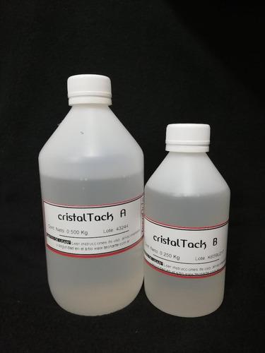 vidrio líquido - resina epoxi cristal 0.750 kg mas calidad