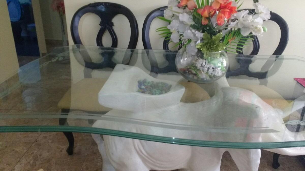 Vidrio para mesa de comedor 6 puestos biselado y tallado - Bases para mesas de vidrio comedor ...