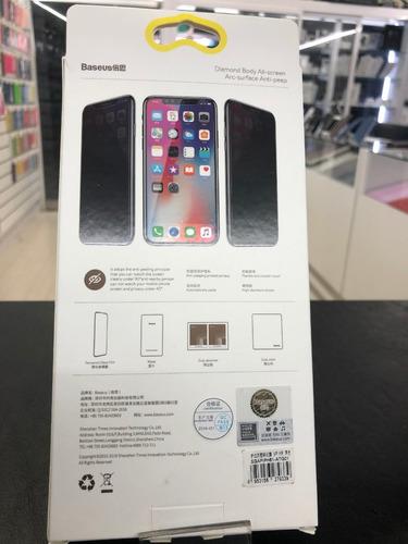 vidrio protector baseus iphone xr anti espia certificado!!