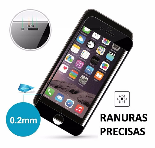 vidrio protector iphone 7 3d pro biselado oleofobico rinco®