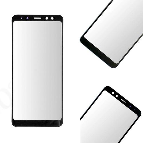 vidrio repuesto pantalla samsung a8 2018 + pegamento uv