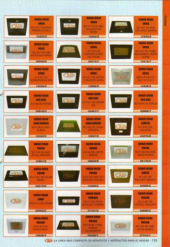vidrio siam/aurora art.10557/5 espej.2 aguj.55x48,2 cm