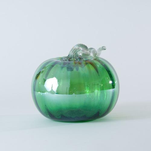vidrio soplado, calabaza decorativa arte mexicano, colores