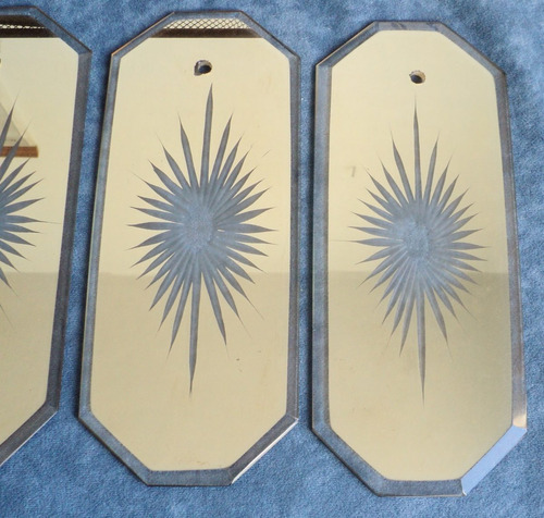 vidrio tallado biselado para lámpara o decoración artesania