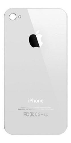 vidrio tapa trasera de bateria iphone 4s blanca colocada