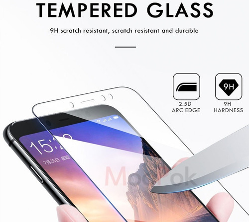 vidrio temperado para redmi note 6 pro - transparente