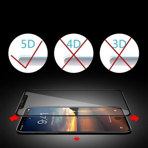 vidrio templado 5d para iphone x cubre el 100% de pantalla