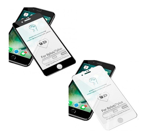 vidrio templado 6d 5d full glue curvo iphone 6 7 plus 8
