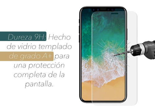 vidrio templado antiespia todos iphone 6 7 8 x xr xs plus