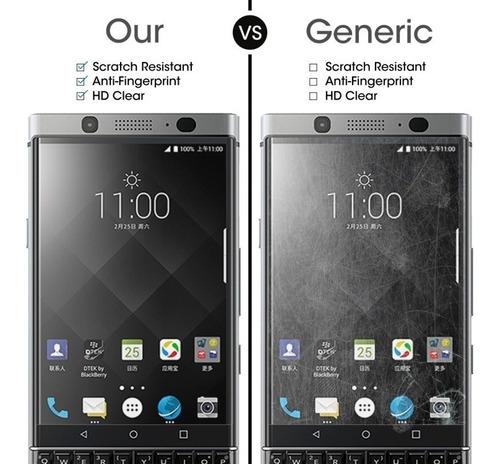 vidrio templado blackberry keyone 9h plano protege de impa #