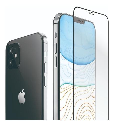 vidrio templado curvo full glue cover iphone 12 pro max