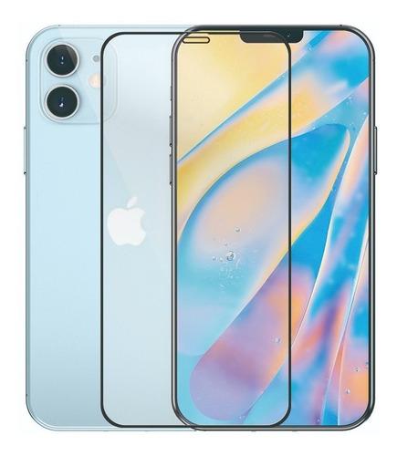 vidrio templado curvo full glue cover iphone 12 y iphone pro