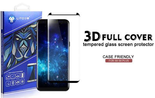vidrio templado curvo samsung s8 plus  case friendly 3d eg