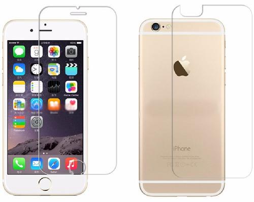 vidrio templado delantero y trasero apple iphone 6s