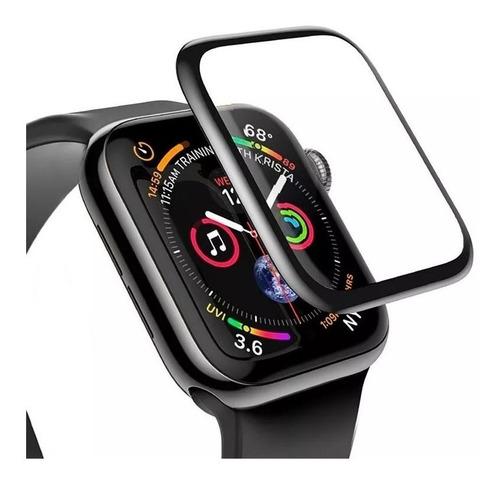 vidrio templado full glue 5d apple watch 40mm 42mm 44mm