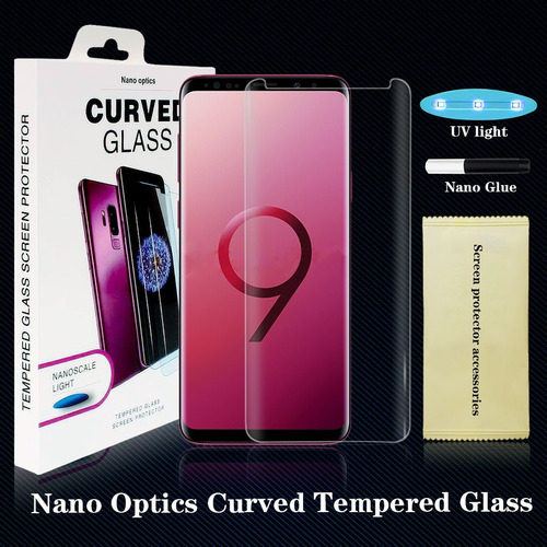 vidrio templado gel uv samsung s10 s10e/lite s10+ simil dome glass