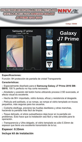 vidrio templado gori glass samsung galaxy j7 prime g610