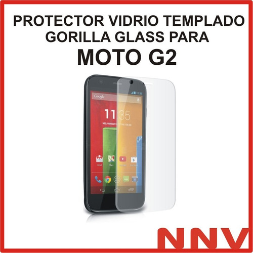 vidrio templado gorilla glass moto g2 2da gen xt1068