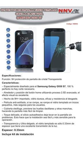vidrio templado gorilla glass samsung galaxy g930 s7