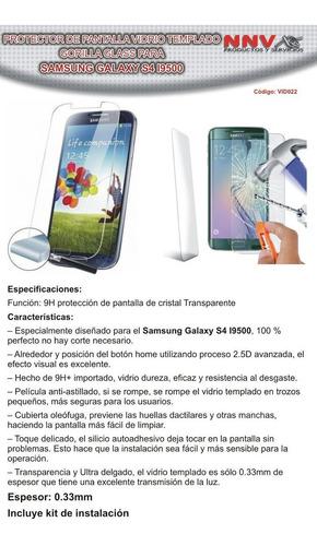 vidrio templado gorilla glass samsung galaxy s4 i9500