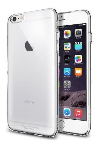 vidrio templado iphone 6 plus + silicona trasp ultrafina