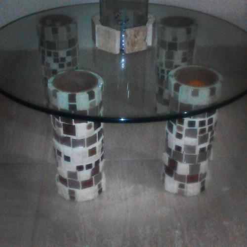 vidrio templado para mesa redondo