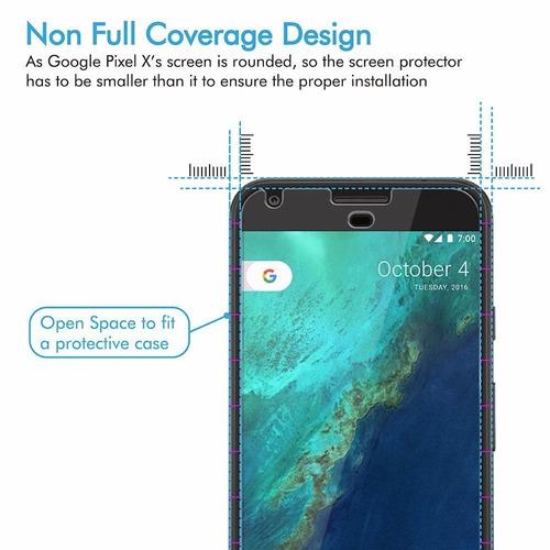 vidrio templado protector pantalla google pixel 5.0 2016 9h