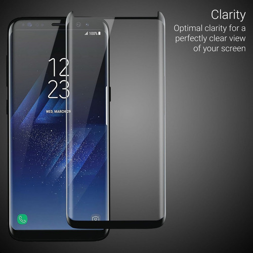 vidrio templado s8 s7 edge s9 full toda pantalla