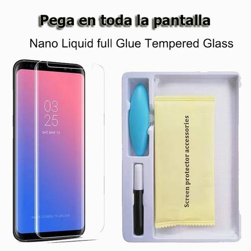 vidrio templado samsung note 8 9 simil dome glass gel uv #