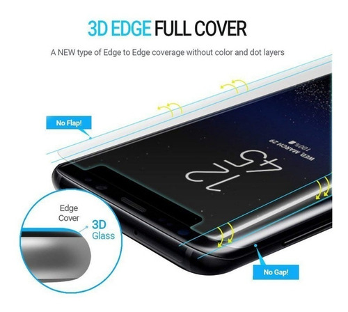 vidrio templado samsung note 9 8 simil dome glass + uv lamp