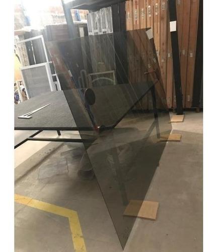 vidrio tonalizado gris de 4mm precio por m2 cortes a medida