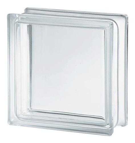 vidrioblock 19x19x8 transparente liso (clarity) (cj 10 pzas)