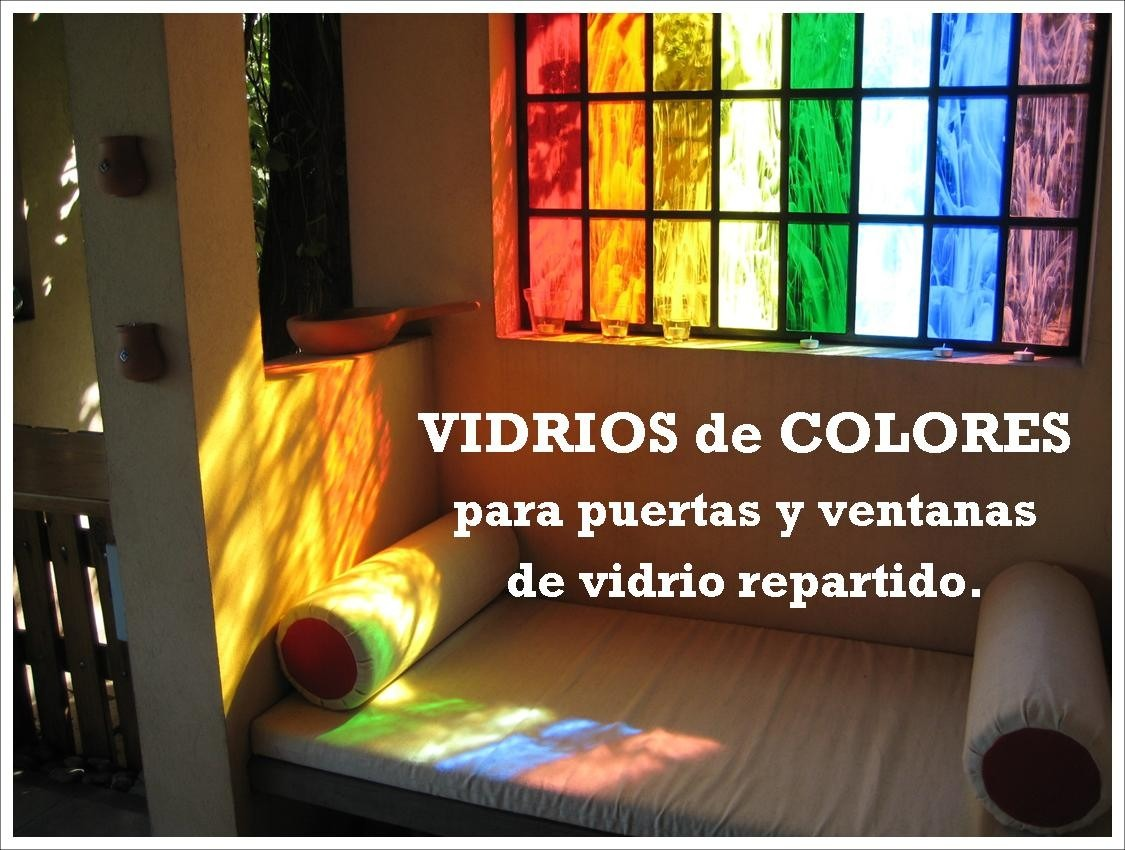 Vidrios De Colores Importados P/ Puertas - Servicio De Corte - $ 40 ...