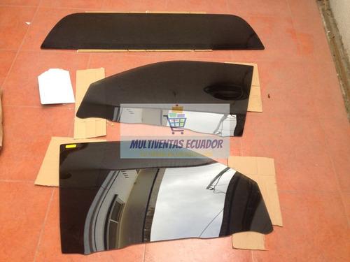 vidrios negros,ventanas polarizadas de fabrica con logo