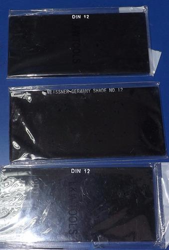 vidrios para careta de soldador 10,11,12 y transparente