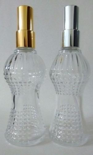vidro cinturinha 100ml + válvula home spray perfume luxo