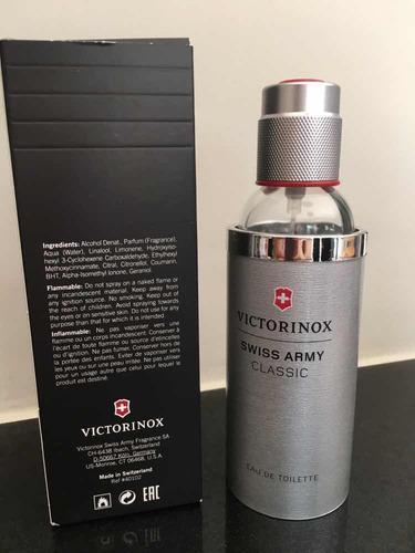 vidro de perfume vazio swiss army victorinox 100ml com caixa