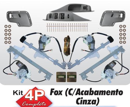 vidro eletrico fox 4 portas completo cinza