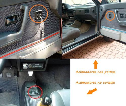 vidro elétrico + trava + alarme - voyage parati 2p quadrado