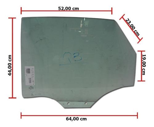 vidro porta traseiro esquerdo audi q3 12/16 vidro lateral