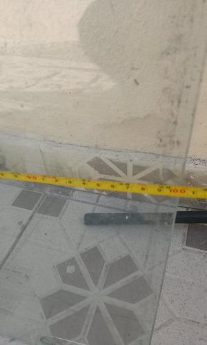 vidro temperado de vitrine de loja + conjunto de fixação.