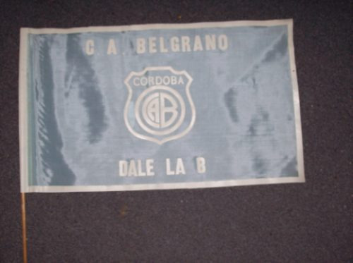 vieja bandera de belgrano de cordoba de tela - no envio