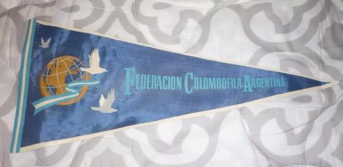 viejo banderin federacion colombofila argentina 1960 palomas