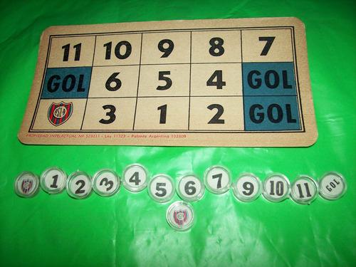 viejo carton de san lorenzo loteria falta 1 ficha - no envio