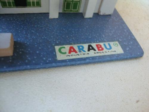 viejo garage- maqueta para autos de carabu