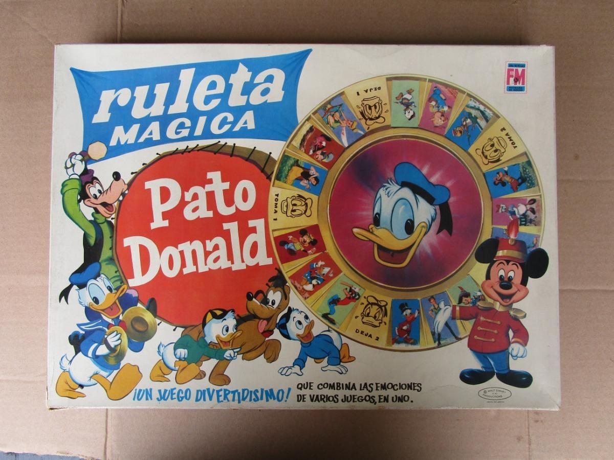 Viejo Juego De Mesa Ruleta Pato Donald Impecable Sin Usar