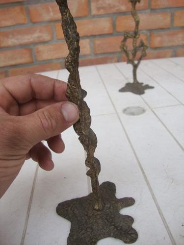 viejos porta velas de bronce - marcados jerusalem