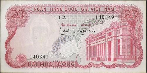 vietnam del sur 20 dong nd1969 p24a