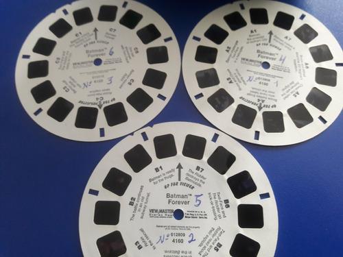 view master modelo  azul + 3 discos batman forever
